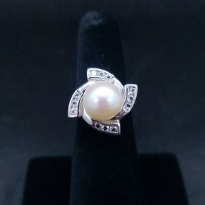 Freshwater Cultured Pearl Sterling Silver Ring